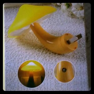 Other - NEW LED energy saving Yellow mushroom nightlight